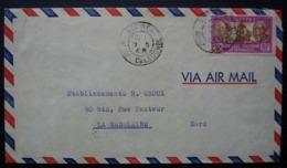 Nouvelle Calédonie Nouméa 1948, Lettre De Jean Turille Ingénieur Importation Exportation Pour La Madeleine (Nord) - Nueva Caledonia