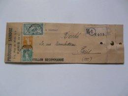 TIMBRES SUR LETTRE ECHANTILLON RECOMMANDE ( Produits SANDOZ) - 45 C Type Merson Et 5 Et 10 C Semeuse Fond Plein - France