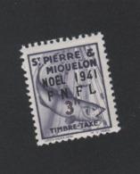 Faux Saint-Pierre Et Miquelon Taxe N° 51 3 F Gomme Charnière - Timbres-taxe