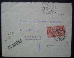 Paris 85 1919 (Rue Du Temple) Lettre Pour Roubaix - Storia Postale