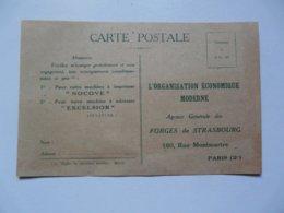 CP - PUBLICITE : L'ORGANISATION ECONOMIQUE MODERNE - Publicités