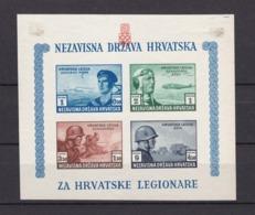 Kroatien - 1943 -  Michel Nr. Block 5 - Ungebr. - Geschnitten - Occupation 1938-45