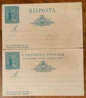 SAN MARINO CARTOLINA POSTALE C.R.P. 15 C. LE DUE PARTI NUOVE STACCATE Carta Spessa - Ungebraucht