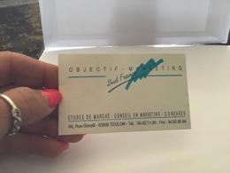 Carte De Visite Objectif Marketing Sud France Toulon étude De Marché Conseil En Marketing Sondage - Cartes De Visite