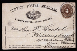 A6302) Mexico Ganzsache Karte Postcard 1888 N. Kehdingbruch / Germany - Mexiko