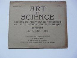 VIEUX PAPIERS - PROGRAMME : ART ET SCIENCE - Programmes