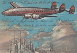 9527-T.W.A.-TRANS WORLD AIRLINE-AEREO CHE SORVOLA DUOMO DI MILANO-1948-FG - 1946-....: Era Moderna