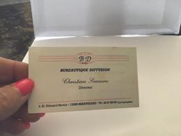 To The Visite Papeterie Matériel De Bureau Dessin Informatique Bureautique Diffusion Martigues - Cartes De Visite