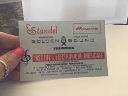 Carte De Visite Golden Sound Institut D'électronique Musicale Paris Marseille Standel - Cartes De Visite