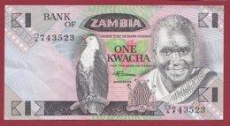 Zambie 1 Kwacha 1980/88  (Sign 7) Dans L 'état N°33 - Zambia