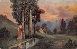 A. Broch - Paysage - Nature - Couple - - Peintures & Tableaux