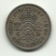 1951 - Gran Bretagna 2 Shillings - 1902-1971 : Monete Post-Vittoriane