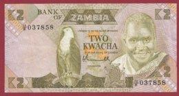 Zambie 2 Kwacha 1980/88  (Sign 5) Dans L 'état N°34 - Zambie