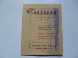 VIEUX PAPIERS - PUBLICITE : CARBONES Pour Machine à écrire - Papèteries L. LUGUET - Publicités