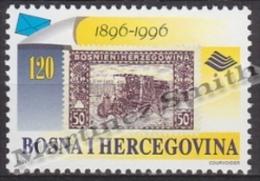 Bosnia Hercegovina - Bosnie 1996 Yvert 194, Centenary Of Postal Car Vehicle - MNH - Bosnien-Herzegowina
