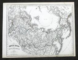 Carta Geografica - Impero Russo - Stabilimento Civelli - 1880 Ca. - Autres Collections