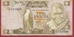 Zambie 2 Kwacha 1980/88  (Sign 6) Dans L 'état N°35 - Zambie
