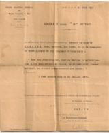 1919 ARMEES FRANCAISES DE L'EST MARECHAL PETAIN / MEDAILLE MILITAIRE CROIX DE GUERRE 201EME RGT D'INFANTERIE B813 - Documenti