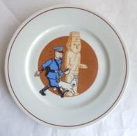 ASSIETTE A DESSERT EN PORCELAINE TINTIN - TABLE & COULEURS 19,5 Cm 1993 - HERGE L'OREILLE CASSEE - Art De La Table