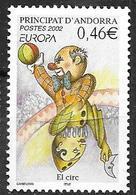 Andorre Français 2002 N° 569 Neuf Europa Cirque - Französisch Andorra