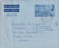 AEROGRAMME   50 CENTS - Mauritius (1968-...)