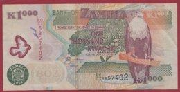 Zambie 1000 Kwacha  2004   Dans L 'état N°44 - Zambia