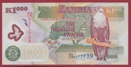 Zambie 1000 Kwacha  2009   UNC  N°46 - Zambie