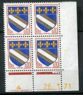 14741 FRANCE N° 1353a ** 0.10 Armoiries De Troyes  C.D Du 26.1.71 Date En Jaune  TB/TTB - 1970-1979