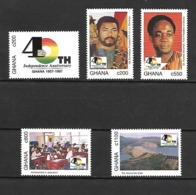 Ghana 1997 The 40th Anniversary Of Independence MNH (D0578) - Ghana (1957-...)