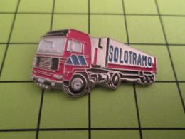 512e PINS PIN'S / Beau Et Rare : Thème TRANSPORTS / CAMION ROUGE 38 T SOLOTRAMO - Transports