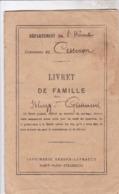 LIVRET DE FAMILLE  / COMMUNE DE CESSENON / BLAZY 1883 / GUIRAUD 1884 - Documents Historiques