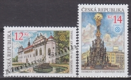 Czech Republic - Tcheque 2002 Yvert 308/ 309, Beauties From Our Country, Litomysl Castle &  Holy Trinity Column - MN - Repubblica Ceca