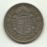 1956 - Gran Bretagna 1/2 Crown - 1902-1971 : Monete Post-Vittoriane