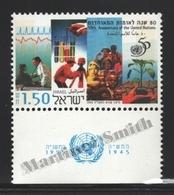 Israel 1995 Yv. 1272, 50th Ann. Of The United Nations – Tab - MNH - Israel