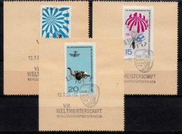 DDR 1966  Mi.nr. 1193-1195 Weltmeisterschaften Im Fallschirmspringen  OBLITÉRÉS-USED-GEBRUIKT - [6] République Démocratique
