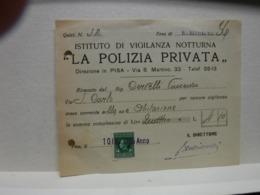 PISA    ---  POLIZIA  PRIVATA -- VIGILANZA  - GUARDIE GIURATE - Italia