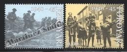 Faroe Islands - Iles Féroé 2005 Yvert 539-40, 60th Ann. End Of World War II, WWII - MNH - Färöer Inseln