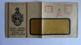 Pays Bas- Nederland - Marcophilie Nederland 12 1/2 Amsterdam 5-6-1930 Avec Empreintes AVRO , Radio OMROEP - Machine Stamps (ATM)