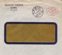 Brief ( Helvetia P20P 267)  Von Uzwil, BUHLER FRÊRES UZWIL. 1924 - Affranchissements Mécaniques