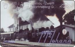 """TWK Österreich Privat: """"Eisenbahn Schwarzenau/Zwettl"""" Gebr. - Austria"""