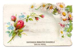Chromo Découpi Chocolat Aiguebelle Gaufré Ajouré Bouquet Fleur Rose Myosotis Pâquerette - Aiguebelle