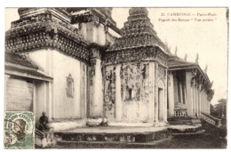 "CAMBODGE - PNOM PENH - Pagode Des Bronzes ""Vue Arrière"" -  Ed. Coll. Poujade De Ladeveze - Kambodscha"