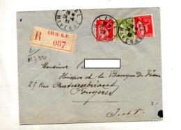 Lettre Recommandée Laval Sur Paix - Postmark Collection (Covers)