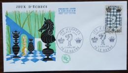 FDC 1966 - YT N°1480 - JEU D'ECHECS - LE HAVRE - FDC