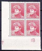 ** Tchécoslovaquie 1945 Mi 441 (Yv 389), (MNH) - Errors, Freaks & Oddities (EFO)