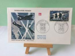 Normandie Niemen (illustration De Gandon) - Paris - 18.10.1969 FDC 1er Jour Coté 3,50€ - FDC