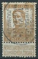 N°113 Obl Oval Bil. BRUXELLES/JOURNAUX/1914 - 1912 Pellens