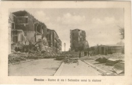 12035 - Messina - Rovine Di Via 1 Settembre Verso La Stazione - Messina