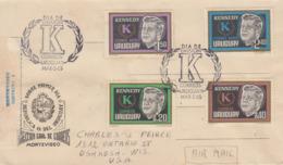 Enveloppe  FDC  1er  Jour   URUGUAY    Président   John  KENNEDY   1965 - Kennedy (John F.)