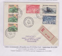 TAAF - Lettre - Amsterdam - Recommandé - Galliéni -25-4-59 - French Southern And Antarctic Territories (TAAF)
